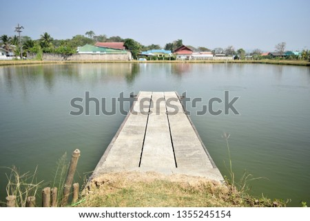 the pic show the Aquaculture ponds with waterfront port