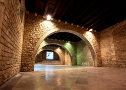 The Picasso Museum in old town Barcelona Spain