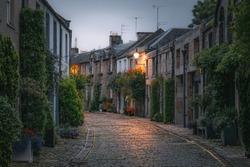 The picturesque and quaint Circus Lane in the Stockbridge neighbourhood of Edinburgh, Scotland