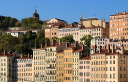 The picturesque district on the hill of La Croix Rousse, on the banks of the Saône in Lyon.