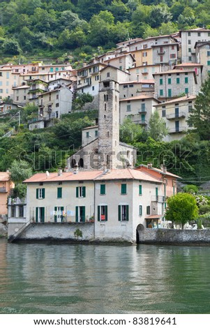The picturesque village of Careno at lake Como, Italy
