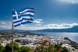 The picturesque village of Plaka on the island of Milos