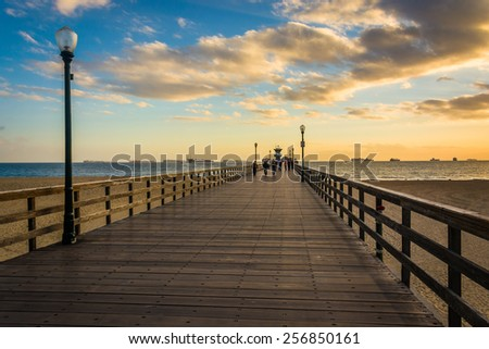 The pier at sunset, in Seal Beach, California.