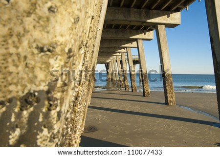 The pier at Tybee Island near Savannah Georgia.