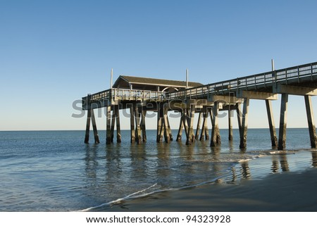 The pier at Tybee Island near Savannah Georgia.