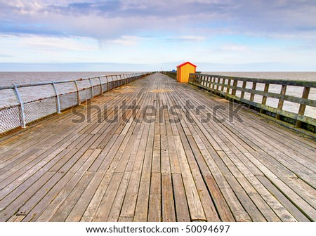 The pier at Walton-on-the-Naze, Essex. The second longest pier in Britain.