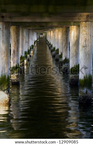 the pier in City Sopot - tunnel - Poland