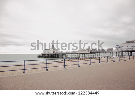 The pier in Eastbourne, United Kingdom - stock photo