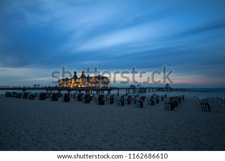 The pier of Sellin in the night #1162686610