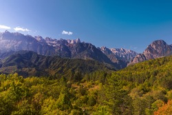 The Pindos Mountain-range is,geologically,an extension of the Dinaric Alps.It enters Northern Greece from Albania,and crosses the regions of Epirus,and Macedonia,down to the Northern Peloponnese.