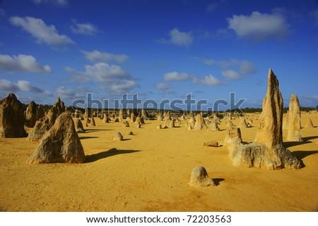 The Pinnacles Desert in Perth, Western Australia