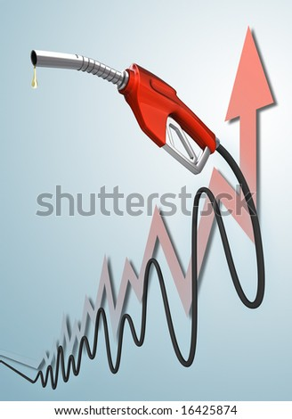 The pipe in the format of a chart, representing the value of gas. - stock photo