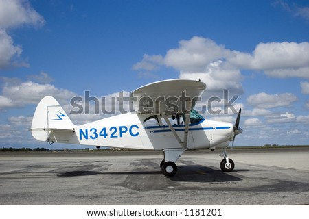 The Piper Tri-Pacer was an important transitional craft of the 1950s - stock photo