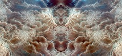 The place where God lives,Tribute to Dalí, abstract symmetrical photograph of the deserts of Africa from the air, aerial view, abstract expressionism,mirror effect, symmetry,kaleidoscopic photo,