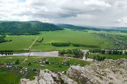 The places around the river Zilim in the southern Ural mountains, Bashkortostan republic of Russia