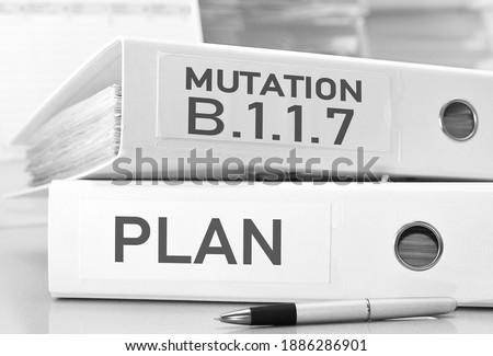 Photo of  the plan for the coronavirus variant B.1.1.7 - ring folders