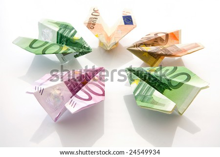 The planes made of  euro - stock photo