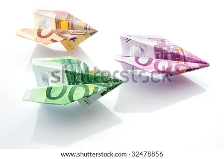 The planes made of  euro