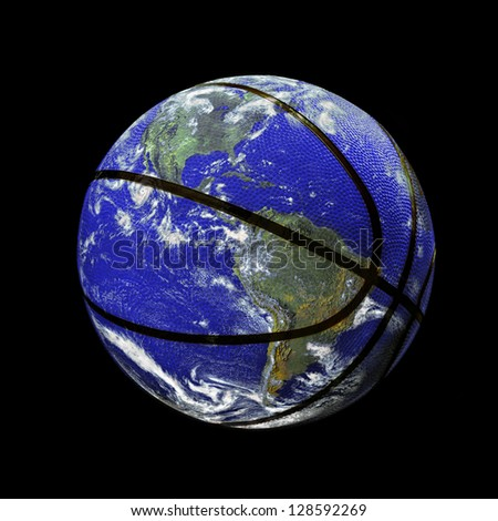 The Planet Earth as a Basket Ball. (the original image of earth is a public domain image from NASA)