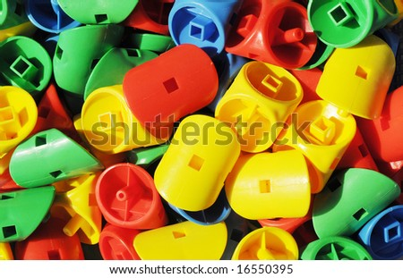 The plastic toys for children with contrast colors yellow - Contrast color with yellow ...