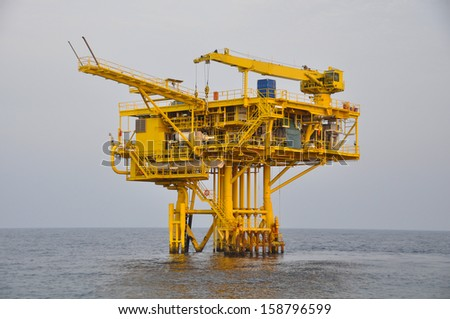 The platform in offshore oil and gas society.The platform in the ocean or in the gulf