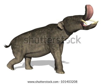 The Platybelodon was a prehistoric elephant that lived during the Late Miocene Era - 15 to 4 million years ago.