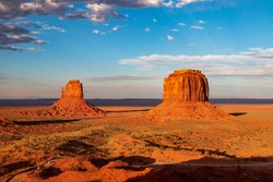 the play of light in the sacred monument valley