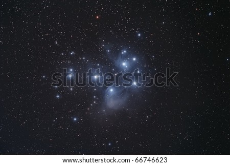 The Pleiades Star Cluster, The Seven Sisters