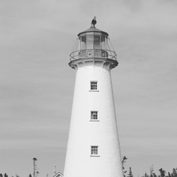 The Point Prim Lighthouse is a lighthouse on Prince Edward Island, Canada. It is located at the end of Point Prim Road, also known as Route 209. The lighthouse itself is 18.5 metres tall when measured