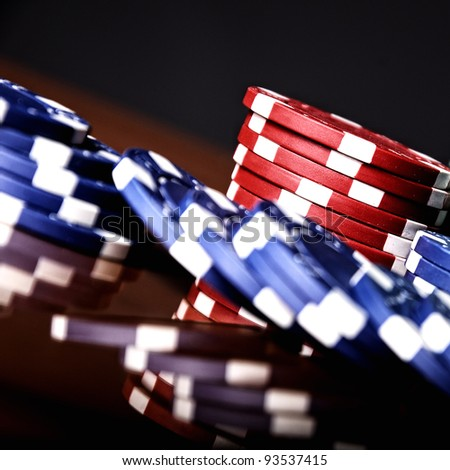 The poker table - stock photo