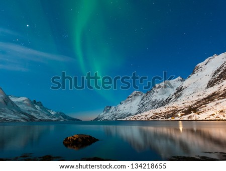 The polar lights in Norway #134218655