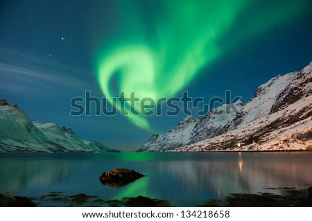 The polar lights in Norway #134218658