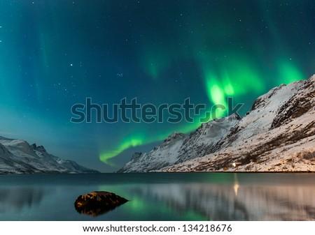 The polar lights in Norway - Shutterstock ID 134218676