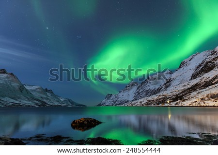 The polar lights in Norway - Shutterstock ID 248554444