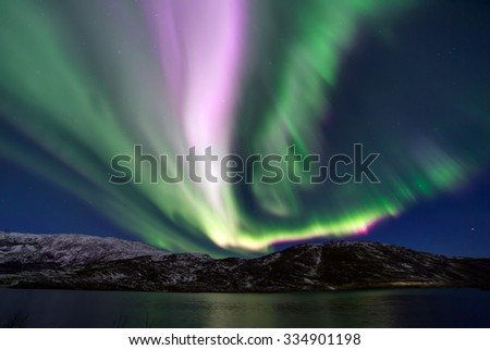 The polar lights in Norway  #334901198