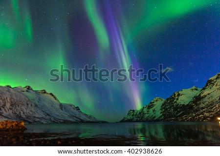 The polar lights in Norway,Tromso  - Shutterstock ID 402938626