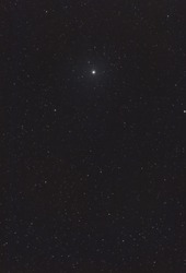 The Polaris star in the constellation of Ursa Major in the sky full of stars