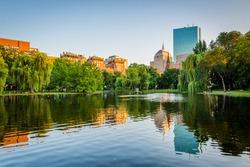 The pond at the Boston Public Garden, in Boston, Massachusetts.