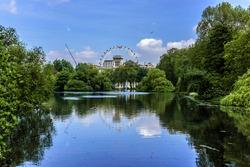 The pond in London Park. London, UK.