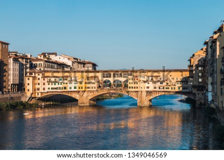 The Ponte Vecchio over the Arno river in Florence, Tuscany, Italy #1349046569
