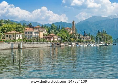 the popular Village of Tremezzo at lake Como,italian Lake District,Italy