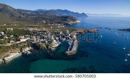 The port of a small town of Corsica island #580705003
