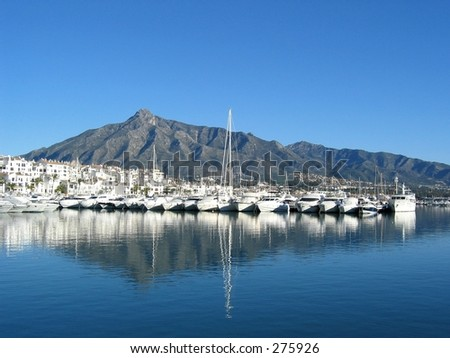 The port of Puerto Banus near Marbella / Spain...