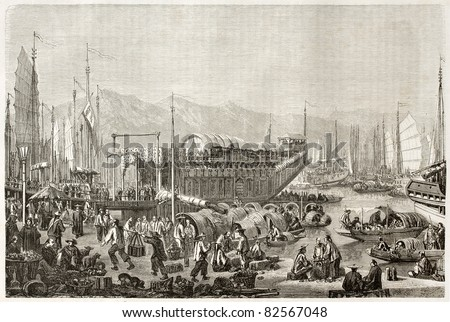 the port of shanghai  old...