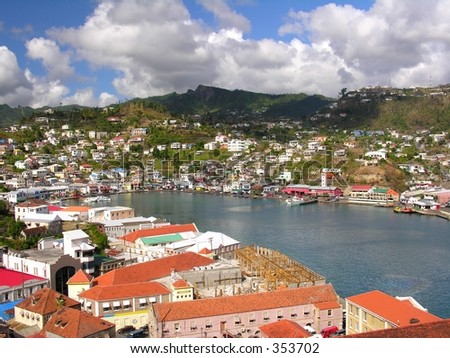 The port of St. George / Grenada