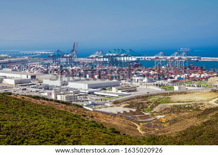 Photo of  The port of Tangier Med located on the Strait of Gibraltar in northern Morocco is the largest port in Africa