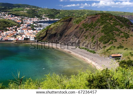 The Porto Pim beach on Faial island