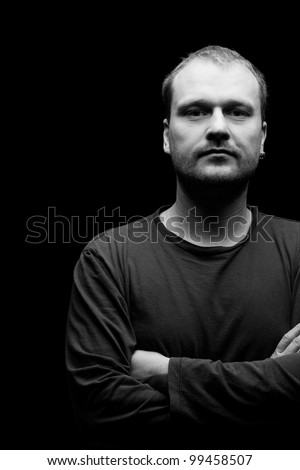 the portrait of man.studio shot