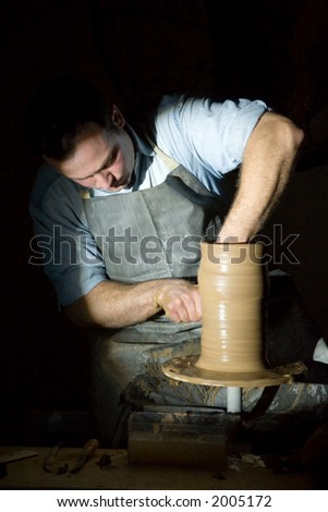 The potter behind work