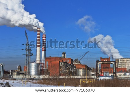 The power station working on burning of coal also makes a lot of smoke in atmosphere